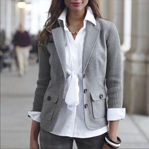 CAbi Half And Half Sweater Blazer Jacket Gray